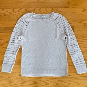 Halogen 3/4 Eyelet Sleeve Crewneck in Sz XS